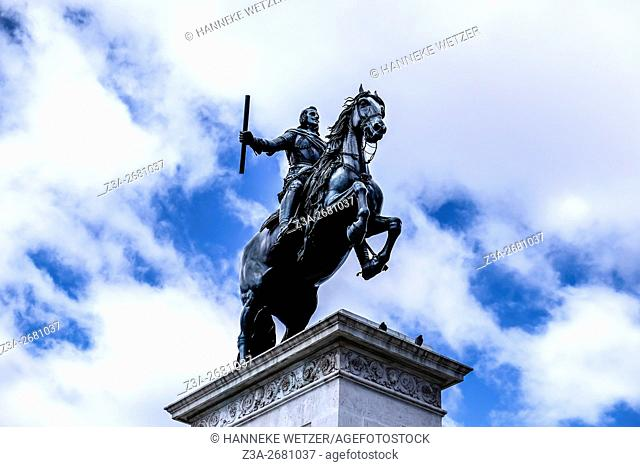 Equestrian statue of Philip IV in Madrid, Spain, Europe