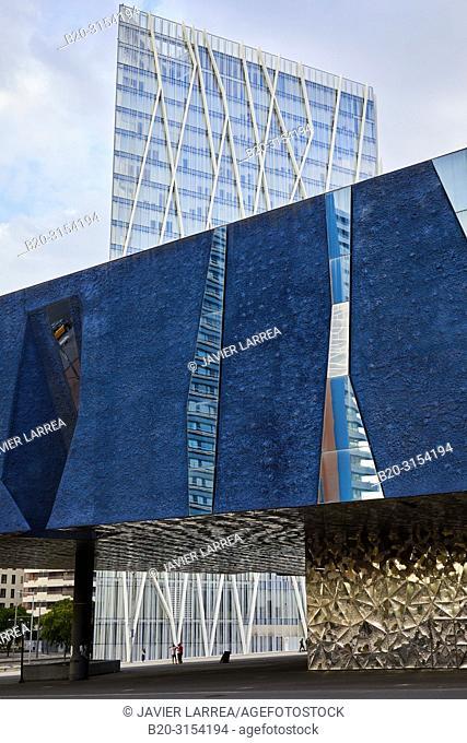 Museu Blau, Telefonica building, Forum, Barcelona, Catalunya, Spain, Europe