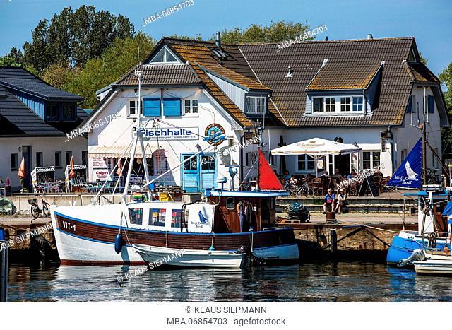 Fish hall at Vitt on the Island of Hiddensee