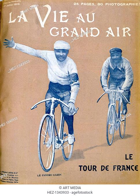 Tour de France, 17 July 1903. 1903 saw the first running of the Tour de France bicycle race. The event was staged over a 2428 kilometre route divided into 6...