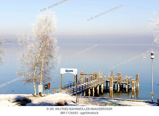 Starnberger See, Starnberg Lake near Seeshaupt, Upper Bavaria, Germany, Europe