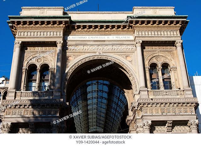 Vittorio Emanuele II Gallery, Duomo Square, Milan, Lombardy, Italy