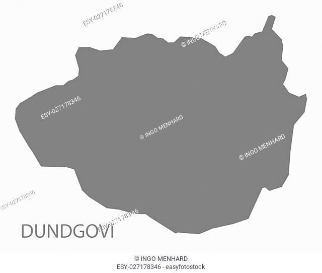 Dundgovi Mongolia Map grey