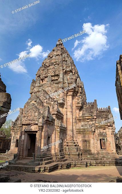 The main tower of Prasat Hin Phanom Rung temple, Phanom Rung historical park, Buriram province, Thailand