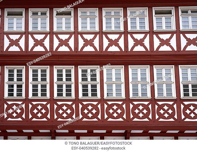 Frankfurt Romerberg square Old city historic center in Germany