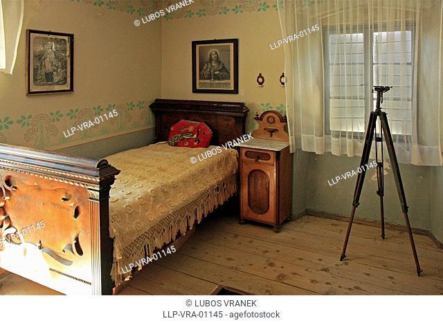 Bedroom in Blaca Monastery in Brac, Croatia