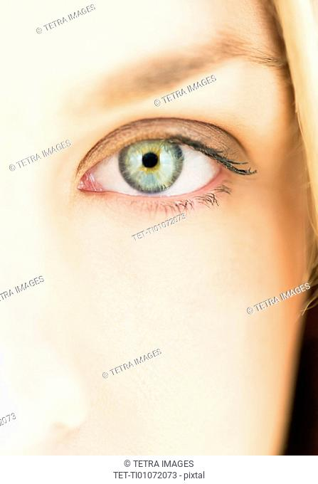Close up of females eye