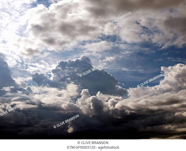 Ominous cumulus clouds