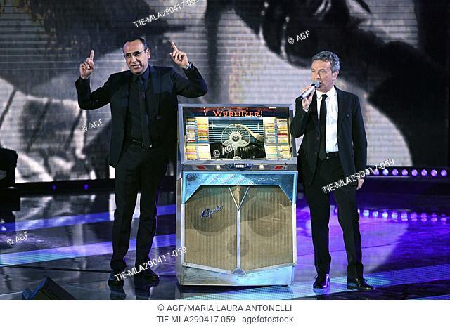 Carlo Conti, Pupo attends 'I Migliori Anni' TV Show, Rome, Italy - 28 Apr 2017