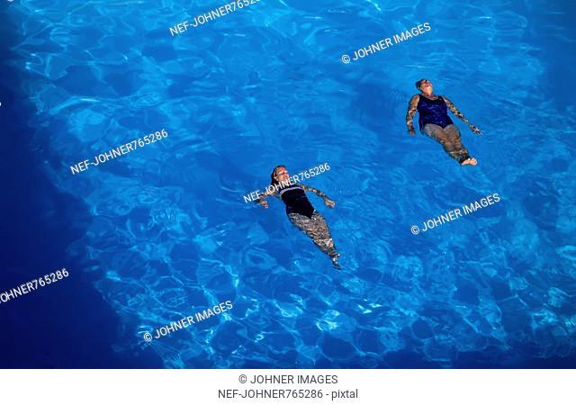 Women in a pool