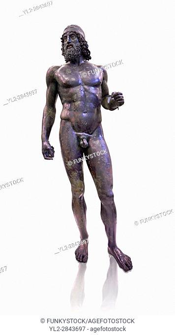 The Riace bronze Greek statue A cast about 460 BC. Museo Nazionale della Magna Grecia, Reggio Calabria, Italy