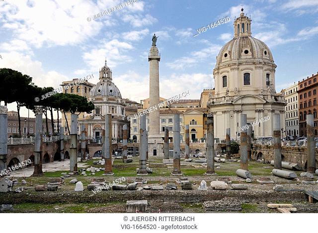 ITALY, ROME, 23.11.2008, Trajan's Column, Rome, Italy, Europe - ROME, ITALY, 23/11/2008