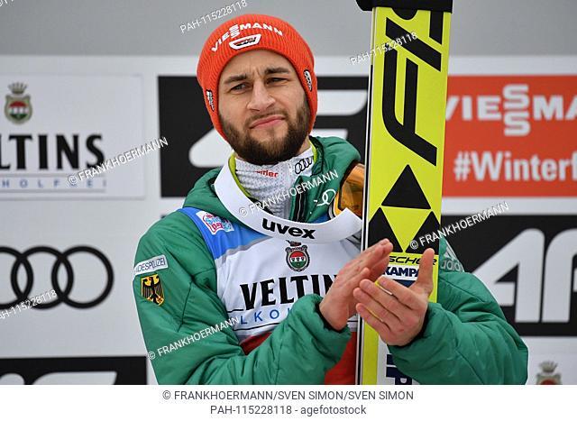 Markus EISENBICHLER (GER), applauding, gesture, action, single image, single cut motive, half figure, half figure. Ski Jumping