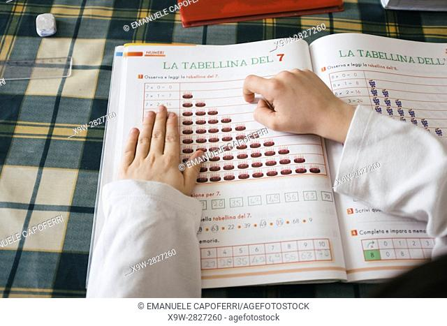 child does homework