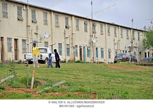 Apartment block of the black citizens of Sabie, South Africa, Africa