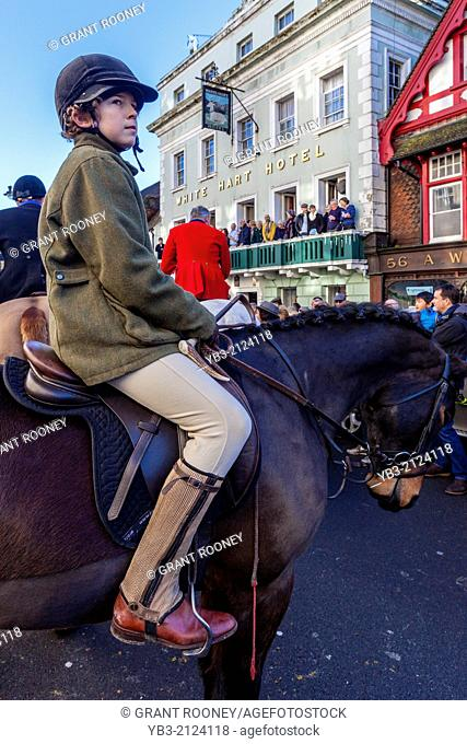 The Southdown and Eridge Hunt's Boxing Day Meeting, Lewes, Sussex, England