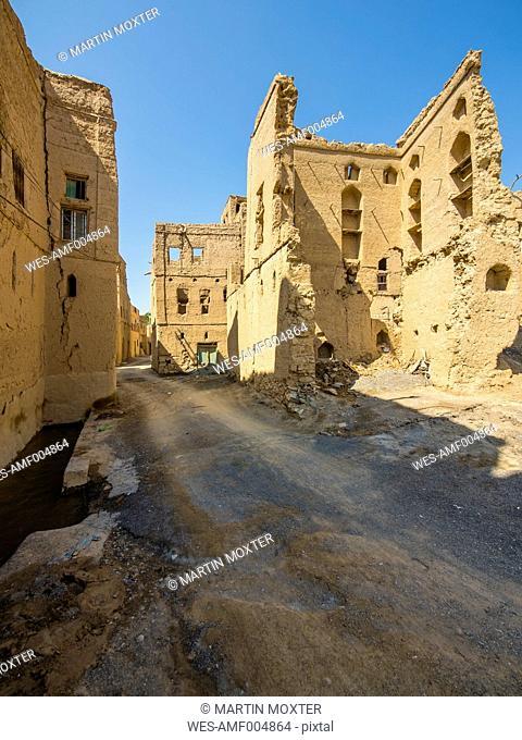 Oman, Dhakiliya region, Al-Hamra, deserted Village