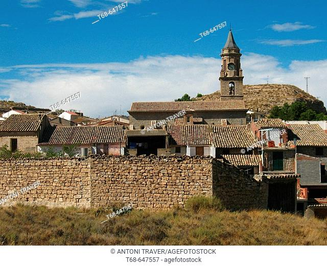 Village of Peñalba in Los Monegros, Huesca province, Spain