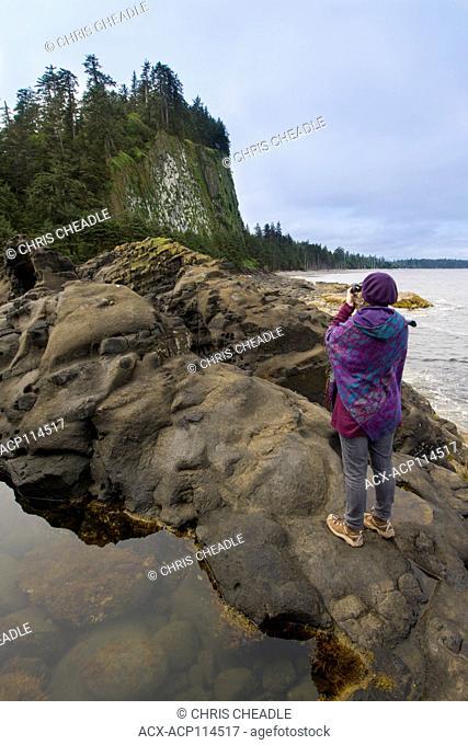 Tow Hill and Agate Beach, Haida Gwaii, formerly known as Queen Charlotte Islands, British Columbia, Canada