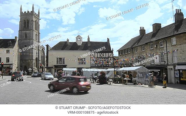 Market Stalls in Red Lion Square, Stamford, South Kesteven