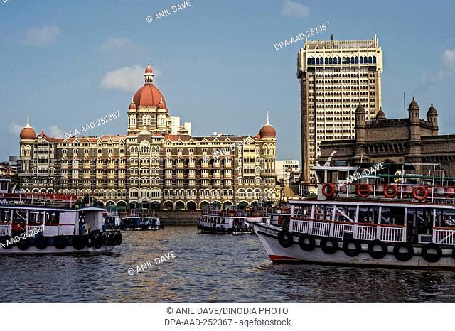 Taj mahal hotel, mumbai, maharashtra, india, asia