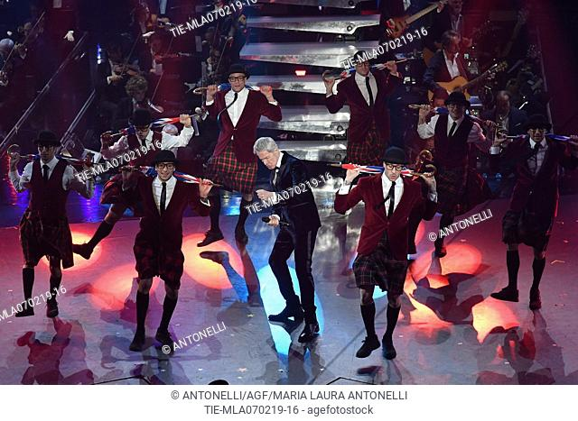 Claudio Baglioni during Sanremo third evening. 69th Festival of the Italian Song. Sanremo, Italy 07 Febr 2019