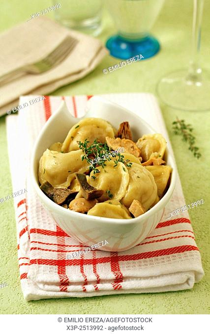 Ravioli of meat