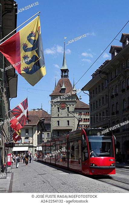 Switzerland, Bern City,Marktgasse Street