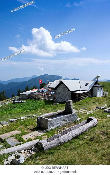 Salei Hut Alp Salei, Onsernone Valley, district, Locarno, Ticino, Switzerland