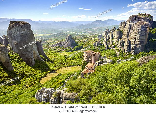 Roussanou Monastery at Meteora, Trikala Region, Greece