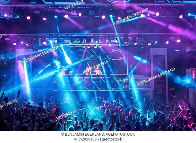 DJ duo Nervo at music festival Starbeach in Hersonissos, Crete, Greece, on 24. July 2017