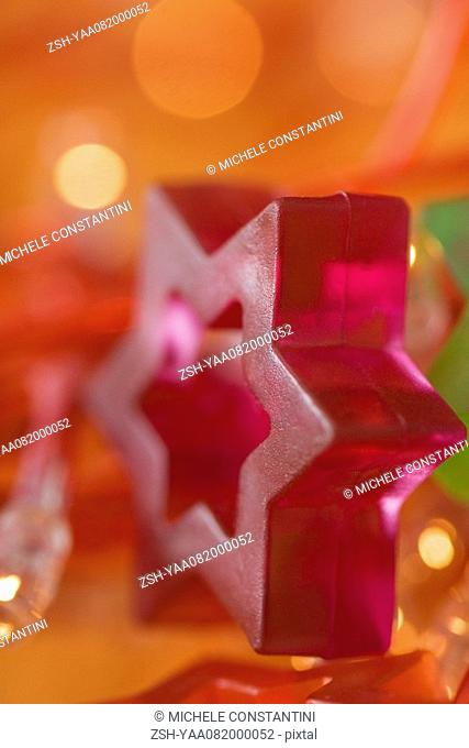 Star of David holiday decoration, close-up