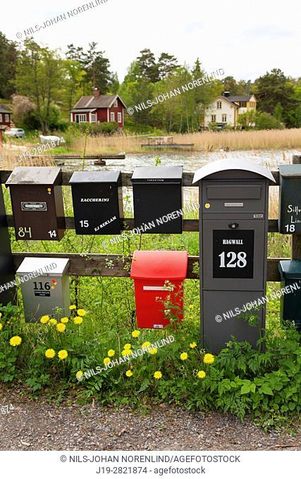 Mailboxes Swedish archipelago, Stockholm