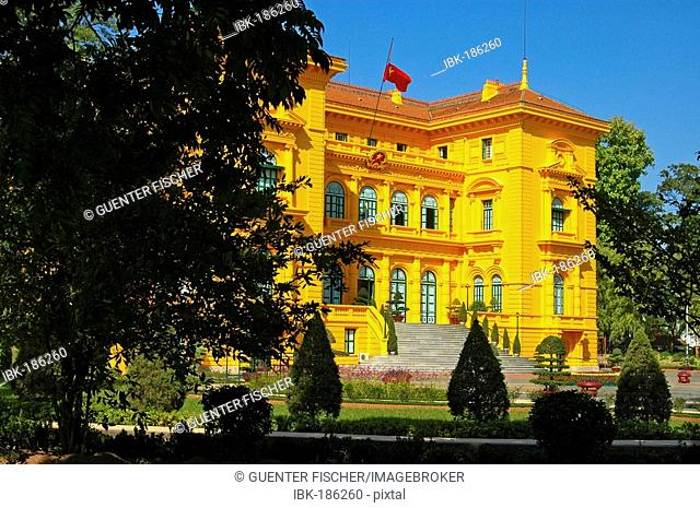 Former official residence of Ho Chi Minh, former residence of the French Governor General during the days of French Indochine, Hanoi, Vietnam