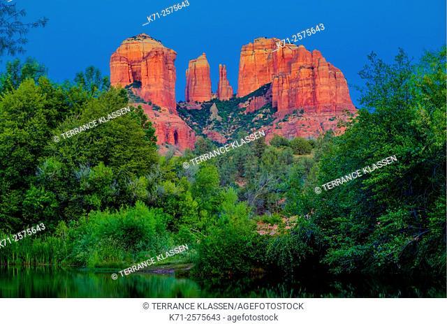 Cathedral Rock and Oak Creek at Red Rock Crossing near Sedona, Arizona, USA