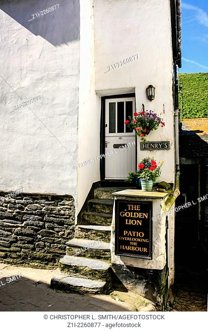 A white painted small fisherman's cottage in Port Isaac Cornwall