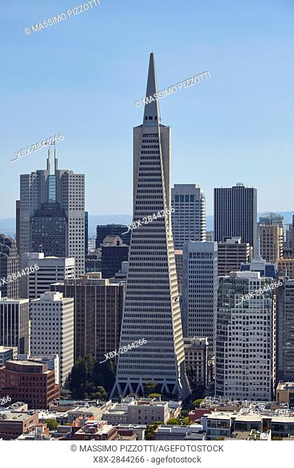 Transamerica Pyramid in San Francisco, California, USA