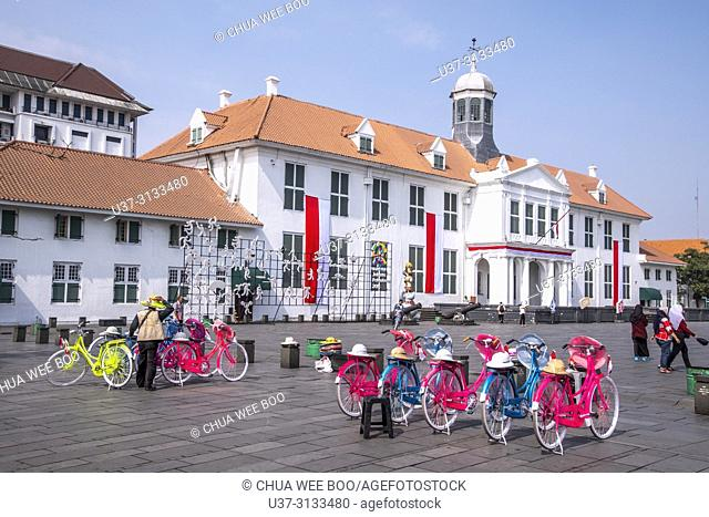Colourful Bicycles on the Market Place Taman Fatahillah in Jakarta, Indonesia