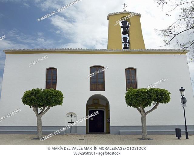 Church in Santa Gertrudis. Ibiza. Islas Baleares. Spain