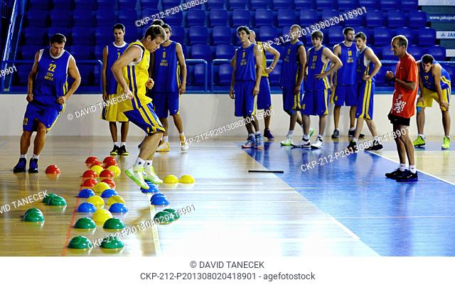 Czech National Basketball team pictured during training for the European Championships in Trutnov, Czech Republic on August 2, 2013