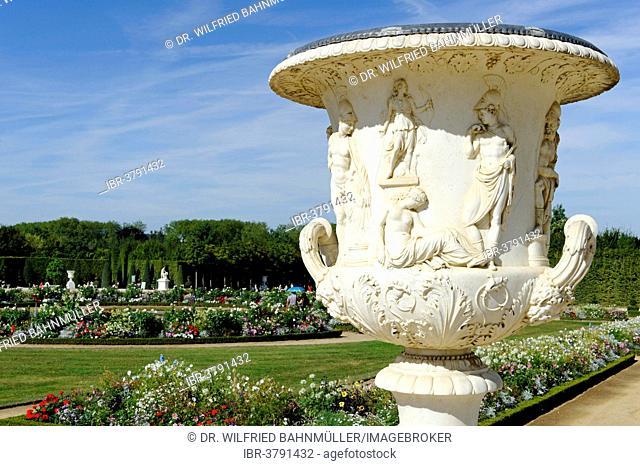 Gardens, west side, Chateau de Versailles, UNESCO World Heritage Site, Département Yvelines, Region Ile-de-Francs, France