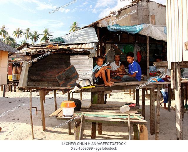 Life style in Mabul Island, Sabah, Malaysia, Borneo