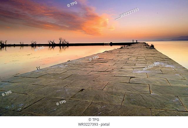 Dianchi sunrise;Yunnan;China