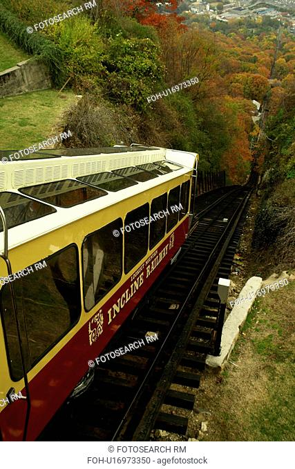 Chattanooga, TN, Tennessee, Lookout Mountain Incline Railway, autumn