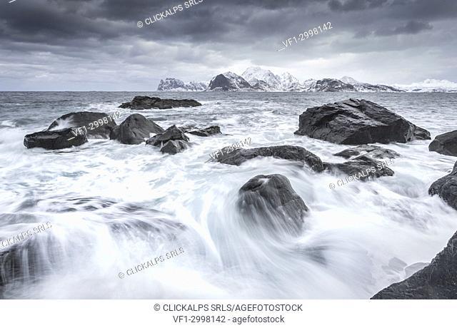 Coastline of Lofoten Islands, Norway