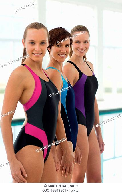 Portrait of smiling swimmers