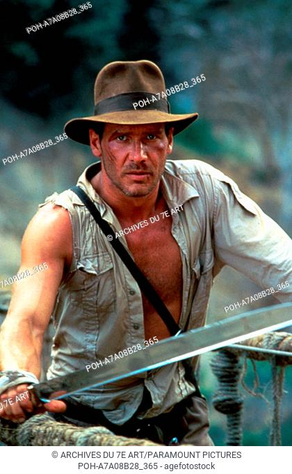Indiana Jones and the Temple of Doom  Year: 1984 Harrison Ford  Director: Steven Spielberg. It is forbidden to reproduce the photograph out of context of the...