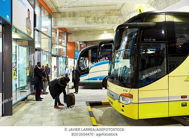 Bus station. Donostia. San Sebastian. Gipuzkoa . Basque Country. Spain. Europe