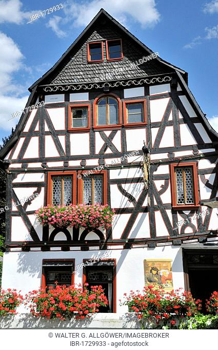 Alten Muenze, former Old Mint where guilder and heller coins were minted for the Electoral Palatinate, now used as a restaurant, Bacharach