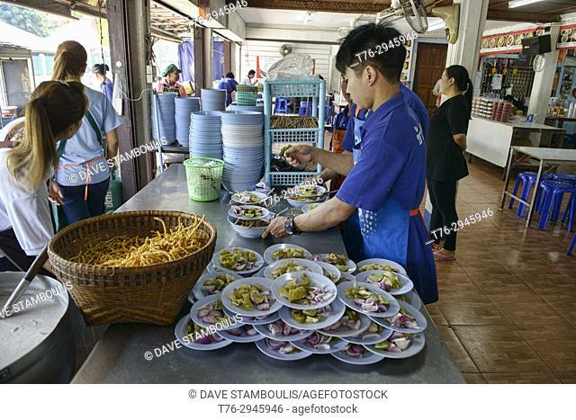 The famous Khao Soi Samer Jai in Chiang Mai, Thailand